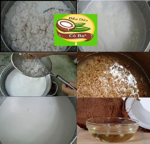 Cách làm dầu dừa tại nhà