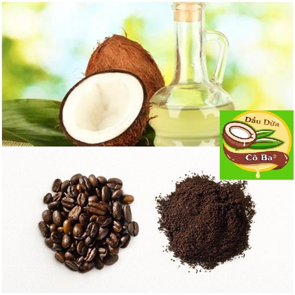 Dầu dừa với bã cà phê