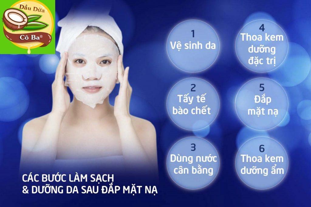 dưỡng da sau khi đắp mặt nạ