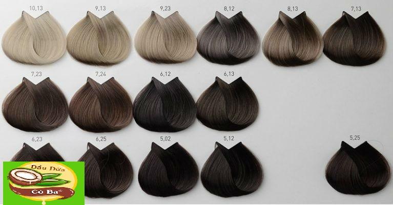 Bảng màu nhuộm tóc đẹp