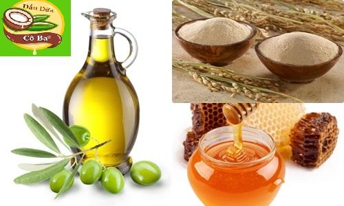 Cách tắm trắng bằng dầu oliu và cám gạo