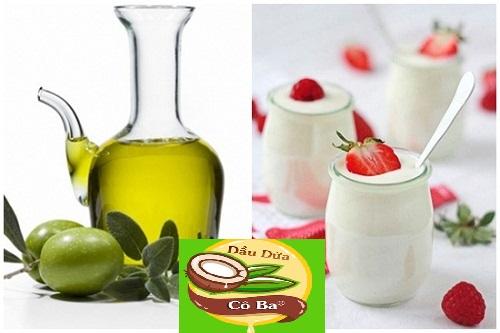 Cách tắm trắng bằng dầu oliu và sữa chua