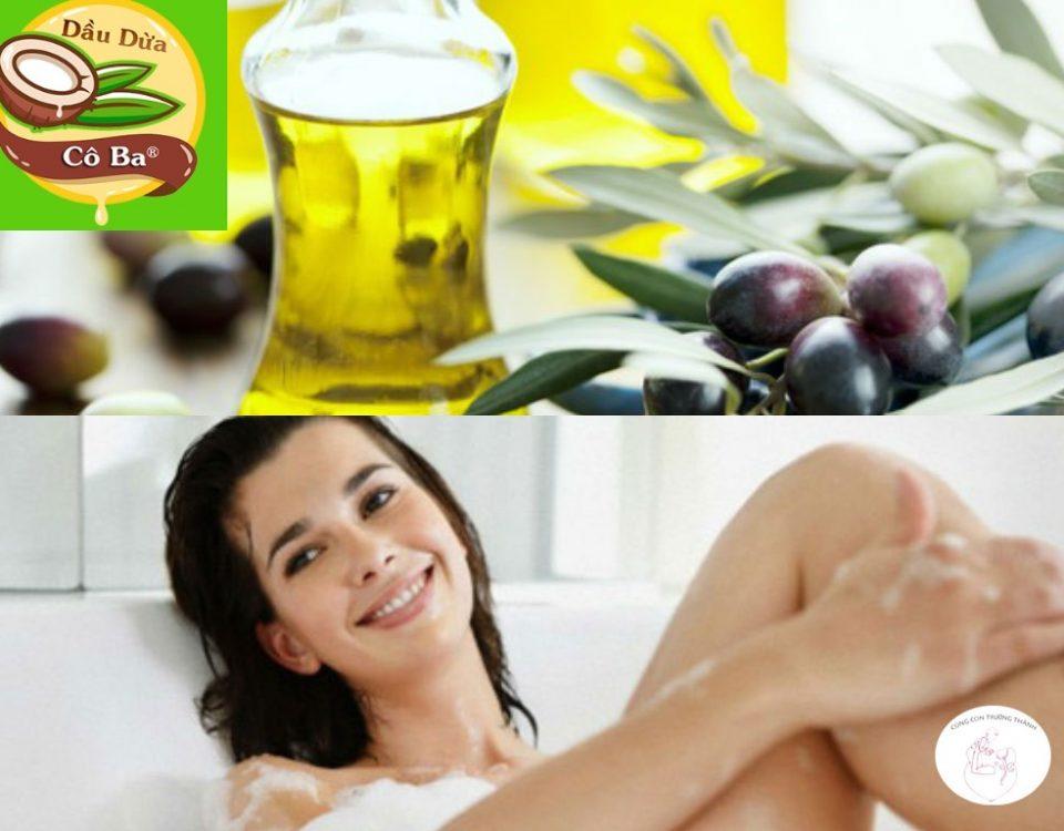 Cách tắm trắng da bằng dầu oliu mỗi ngày