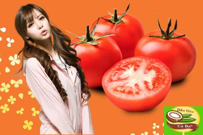 Trị thâm mụn với cà chua