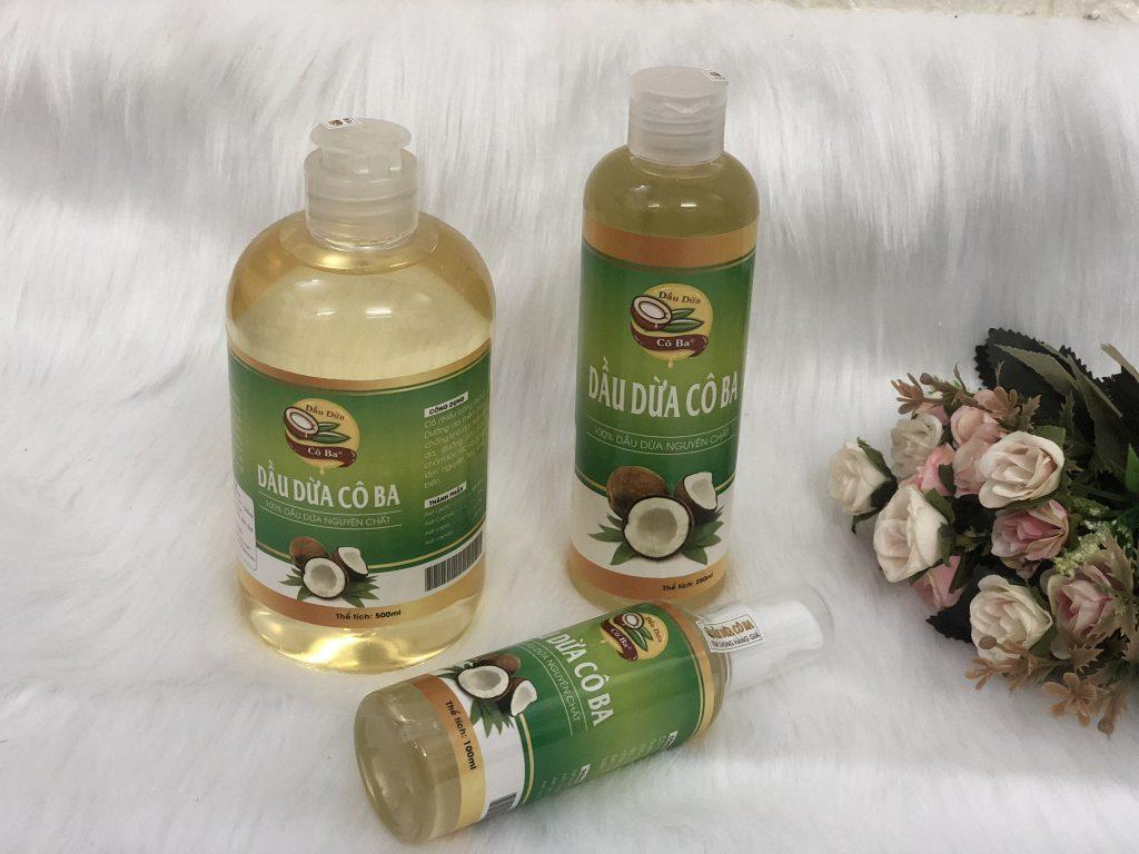 Dầu dừa Cô Ba hiện rất được ưa chuộng trên thị trường hiện nay