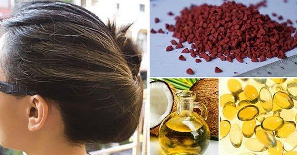 Trị tóc bạc bằng dầu dừa an toàn