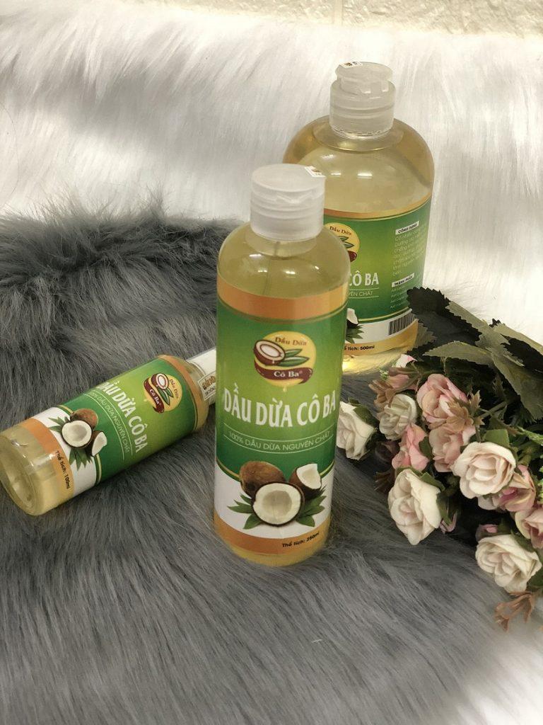 Các sản phẩm của Dầu Dừa Cô ba luôn đảm bảo vệ sinh và chất lượng