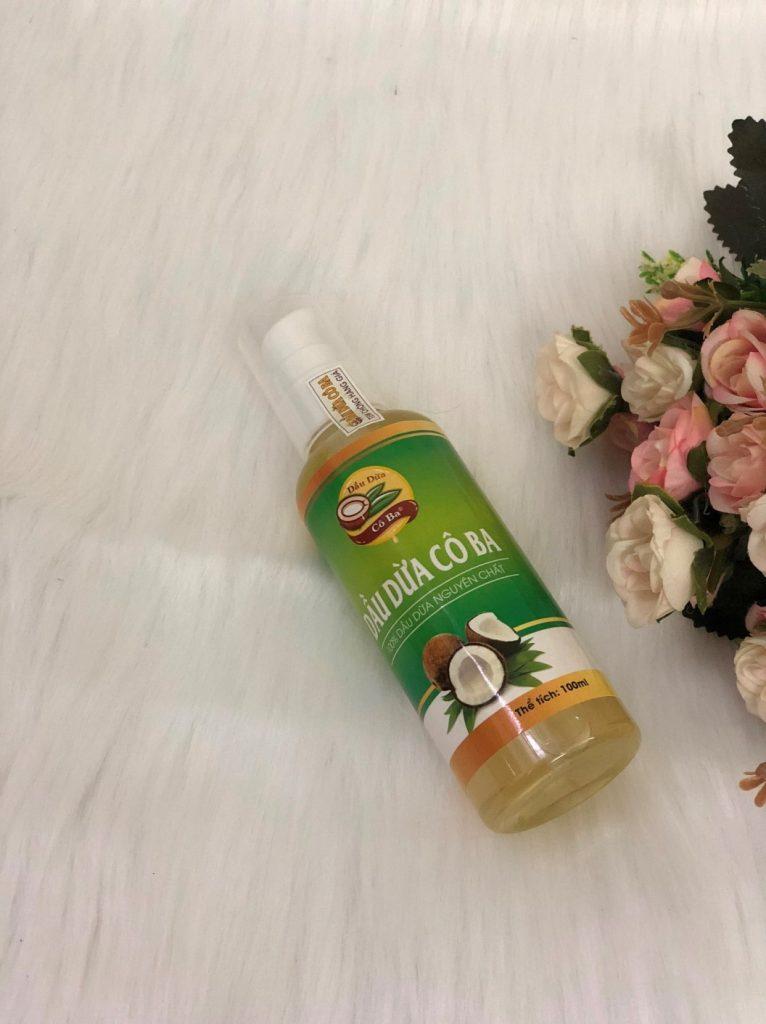 Sản phẩm dầu dừa Cô Ba nguyên chất